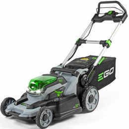 Ego LM2001E lawn mower viewed from the side