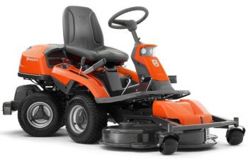 Husqvarna R316TXs AWD front rider mower viewed from the side